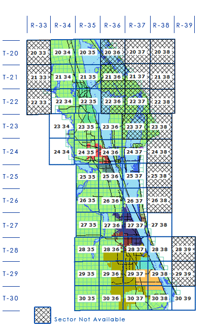 Section maps index grid